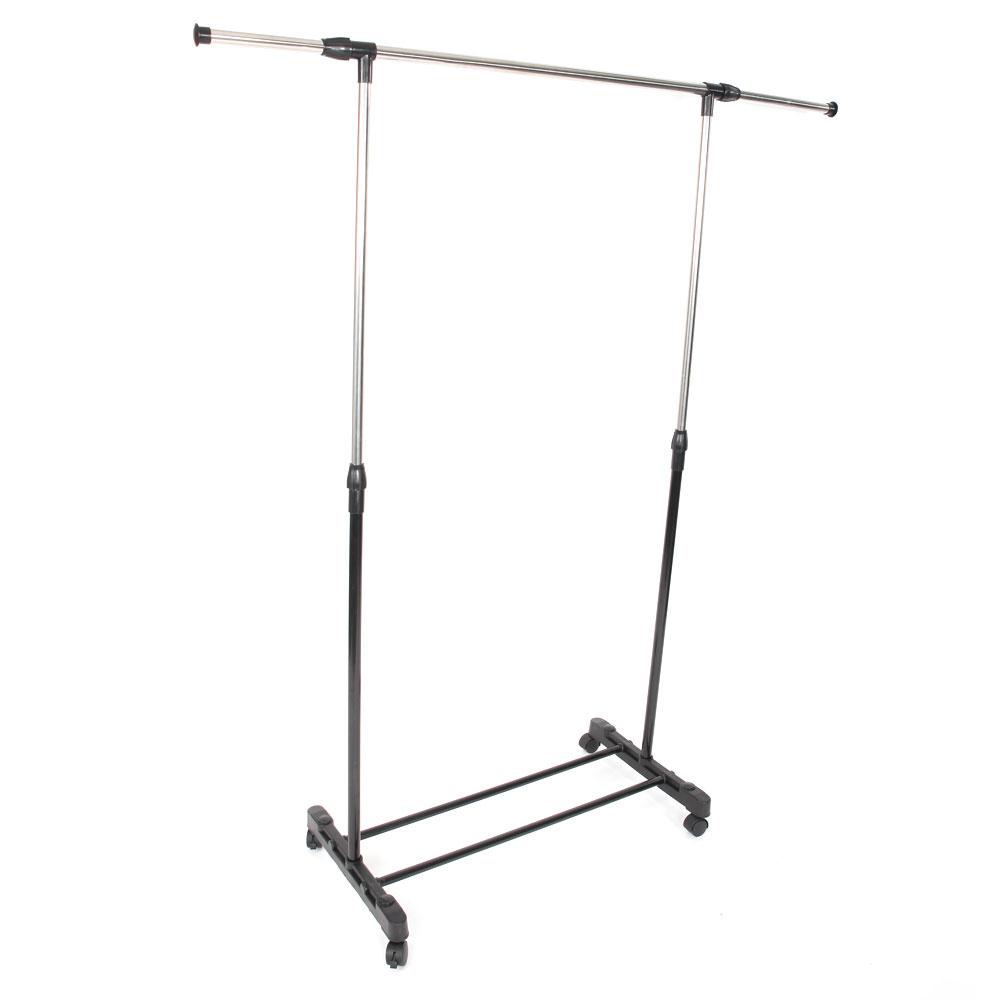 Adjustable portable clothes garment rack steel rolling closet wardrobe organizer