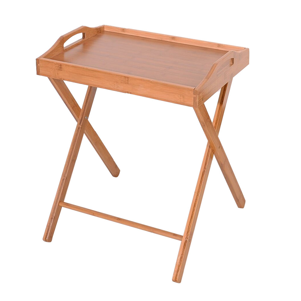 Folding Tv Tray Table Stand Eating Snack Dinner Coffee Wooden Home