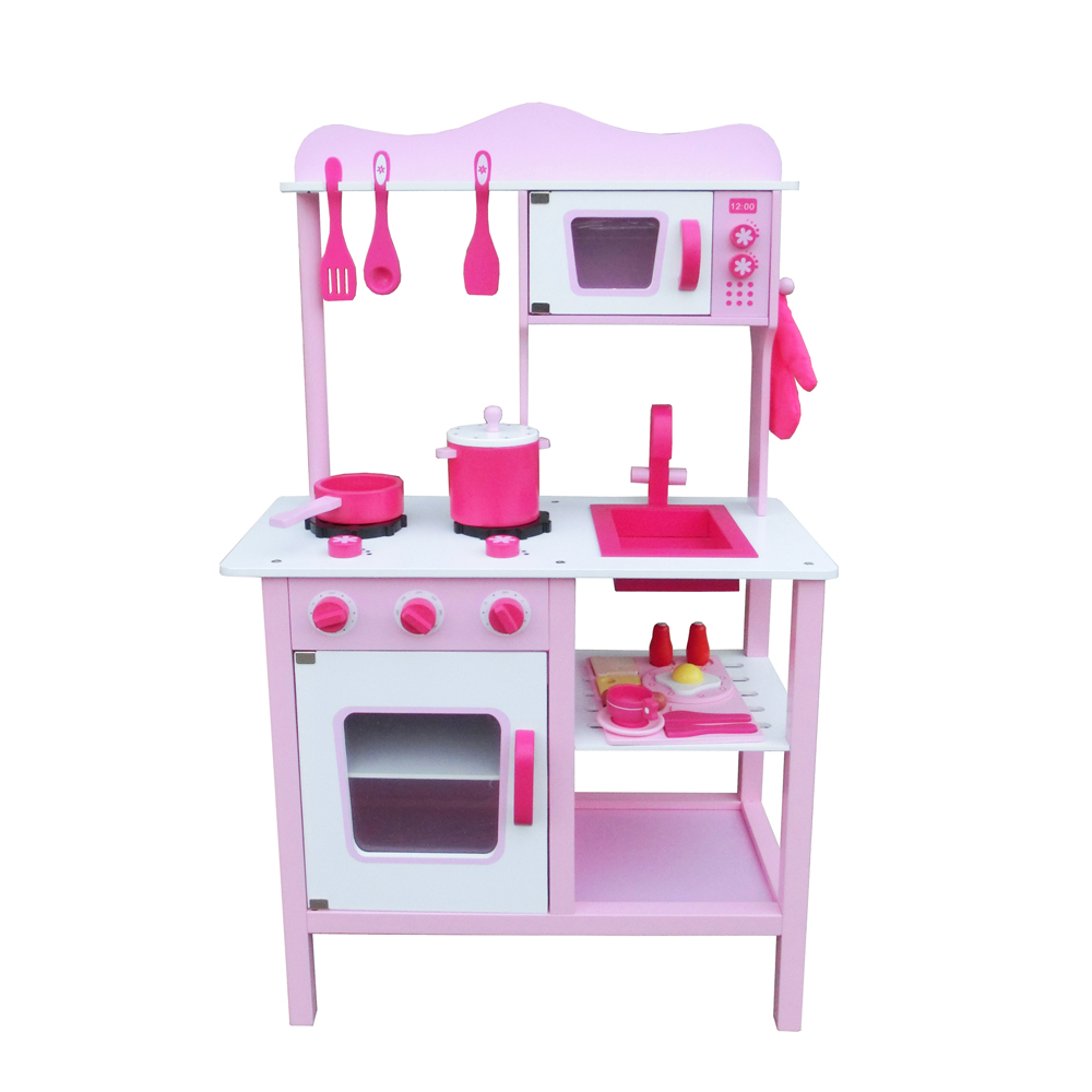 Kids Playing Kitchen Kit Pretend Custom Stove Cabinet Wooden Cooking ...
